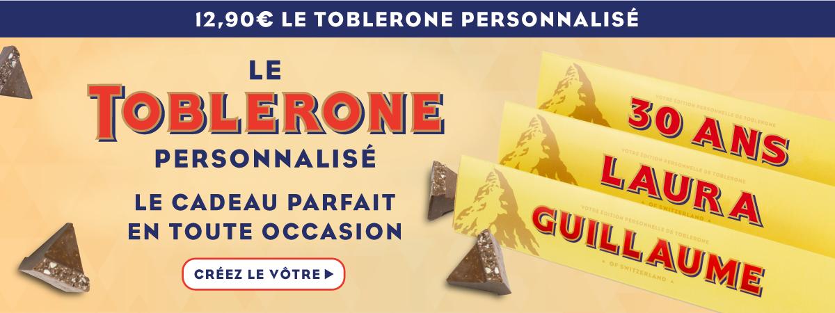 Personnalisé Toblerone £12,99 + livraison gratuite